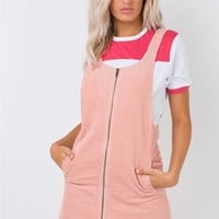 Afends Almond Corduroy Pinafore Dress