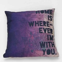 Leah Flores For DENY With You Pillow- Purple One