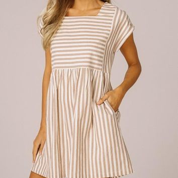 Molly Striped Mini Dress
