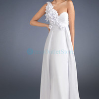 Elegant Couture Cream One Shoulder Evening Dress : dressoutletstore.co.uk, Wedding Dresses Outlet