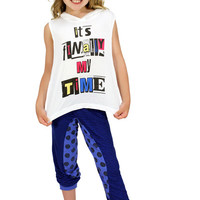Dirtee Hollywood Dance Royal Blue So Spotty Pants | Mod Angel