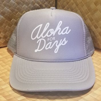 """50th State of Mind """"Aloha for Days"""" SnapBack Trucker Hat"""