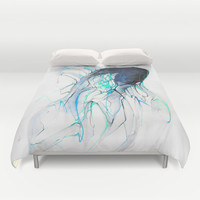 Ghost Fish Duvet Cover by Alexis Marcou
