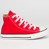 Converse Chuck Taylor All Star Hi Girls Shoes Red  In Sizes