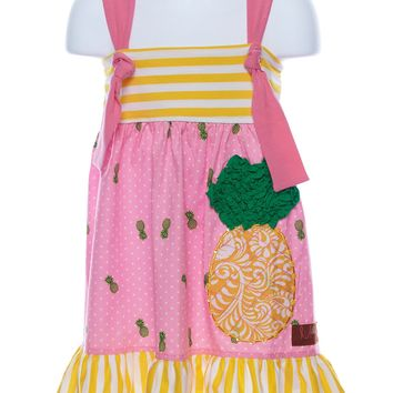 Millie Jay Pineapple Applique Knot Tie Dress