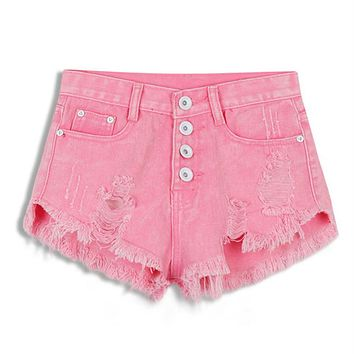 Women's Vintage High Waist Jeans Shorts aka: Daisy Duke's.   Available in Pink, White, Black, Dark Blue, Light Blue, Lake Blue.   Sizes Small to XL.   ***FREE SHIPPING***