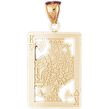 14K GOLD GAMBLING CHARM - PLAYING CARD #5467