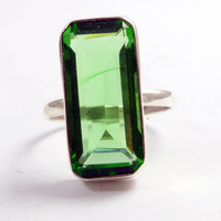 10ct Peridot 925 Sterling Silver Ring