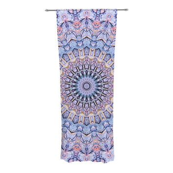 "Iris Lehnhardt ""Summer Lace II"" Circle Purple Decorative Sheer Curtain"