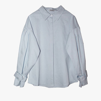 Baby Blue Long Blouse