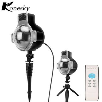 Remote control of the laser projector star white LED Christmas light snow falling in the water proof outdoor garden landscape
