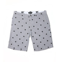 HUF: Plantlife Embroidered Shorts - Gray Oxford