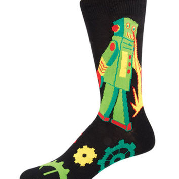 Socksmith Mens Robot Rampage Crew Length Socks