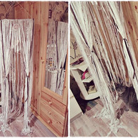 Lace Crib Canopy with Dreamcatcher - Bohemian Bedding - Boho Bedroom Decor - Toddler Bed Tent - Boho Nursery Decor - Gypsy Decor - Baby Gift