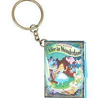 Disney Alice In Wonderland Mini Notebook Key Chain