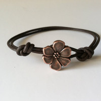 Copper Apple Blossom Charm Bracelet by Jennasjewelrydesign on Etsy