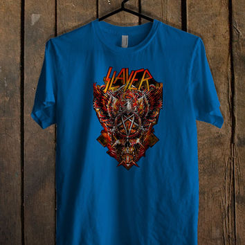 metal band slayer Blue For Mens T Shirt and Womens T Shirt *76*