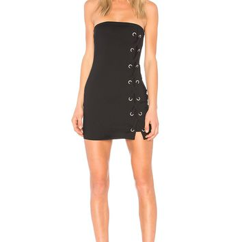 by the way. Tina Lace Up Dress in Black | REVOLVE
