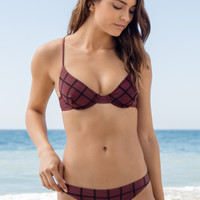 ACACIA SWIMWEAR - Manhattan Stitched Top | Merlot