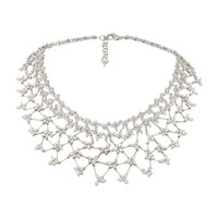 18K White Gold Diamond Statement Necklace | Moda Operandi