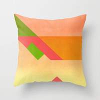 Match  Throw Pillow by SensualPatterns