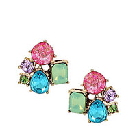 SWEET SHOP STONE CLUSTER STUDD EARRINGS: Betsey Johnson