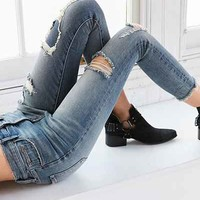 BDG Twig Crop High-Rise Skinny Jean - Distressed Patch - Urban Outfitters