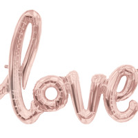 Love Rose Gold Mylar Balloon