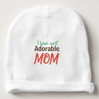 Mothers day special- Adorable Mother design Baby Beanie