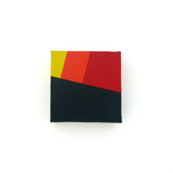 Minimalist Abstract Art / Tiny Canvas Painting / Colorful Geometric Painting / Modern Acrylic Canvas Art / Wall Art / Home Decor