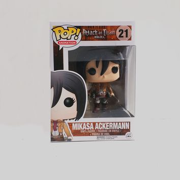 Attack on Titan -  Mikasa Ackerman Titan POP Vinyl Figure