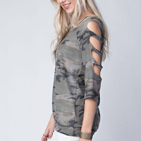 Casual Saturday Night Top - Camo