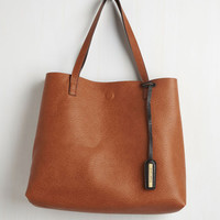 Know a Thing or Two-Tone Reversible Bag by ModCloth