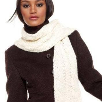 THE NORTH FACE SCARF, CABLE-KNIT BLACK OS