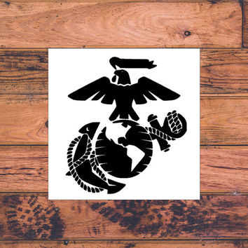 USMC Decal | Military Decal | US Marine Corps Decal | Marines Car Decal | Military Support | Car Decal | Car Stickers | Bumper | 014
