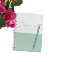 Personalized Notebook - Colour Block Spots