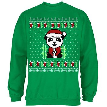 Ugly Christmas Sweater Panda Mens Sweatshirt