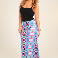 Until We Cross Again Skirt: Multi