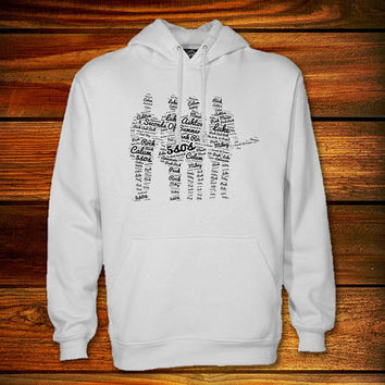 word art 5sos, 5 second of summer Hoodie,word art 5sos, 5 second of summer Sweater Black and White
