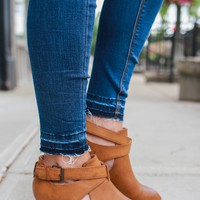 Lost in Wonder Booties - Whiskey