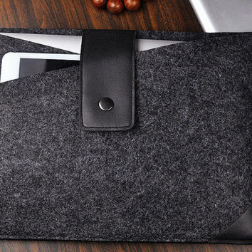 "Felt laptop bag,11-17""MacBook felt case, felt iPad case,Kindle Fire HD sleeve,wool felt bag,gift"