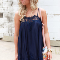Georgie Dress Navy