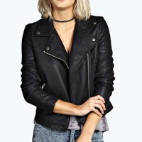 Jade Faux Leather Biker Jacket