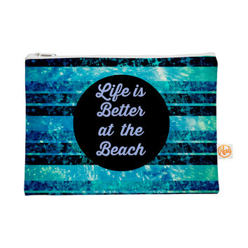 "Ebi Emporium ""Life is Better at the Beach"" Blue Aqua Everything Bag"