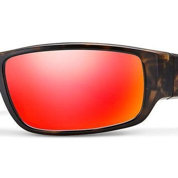 Smith - Survey Matte Camo Sunglasses / Carbonic Polarized Red Mirror Lenses