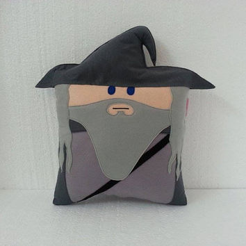 Handmade Lord of the Rings Gandalf LOTR Party Favor Gift Stuffed Animal Toy Plush Pillow Cushion