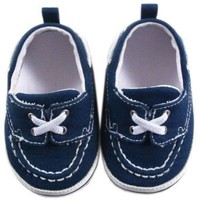 Luvable Friends Boy's Slip-on Shoe for Baby, Navy, 6-12 Months