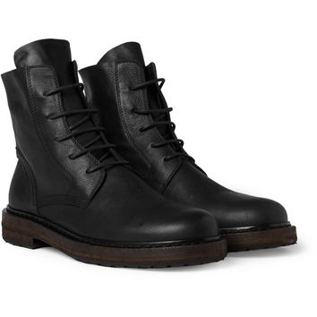 Ann Demeulemeester Lace-Up Leather Boots | MR PORTER