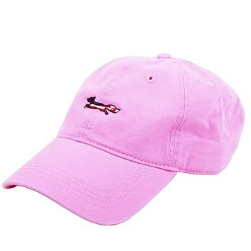 Patriotic Longshanks Hat in Pink Twill by Country Club Prep