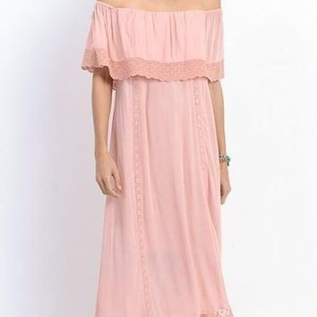 Brooke Off Shoulder Maxi Dress